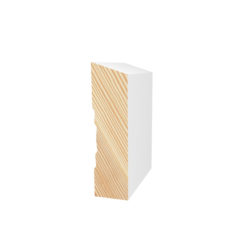 Primed Pine Finger Jointed F/J Top Bevel Profile 138 X 18 White