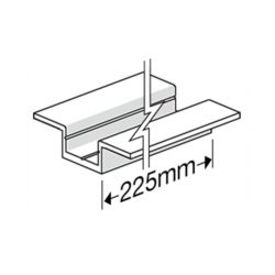 James Hardie 306010 HardieDeck Double Winged Base Jointer 225mm & Screw Bag of 35