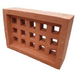 Brick Vent Clay V13 Square Hole Red Terracotta 230 x 160