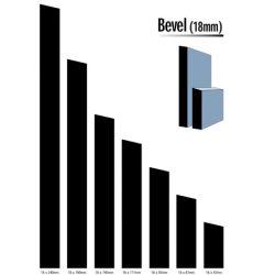 Primed MDF Bevel 117 X 18 White