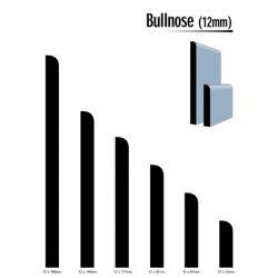 Primed MDF Bullnose 92 X 12 White