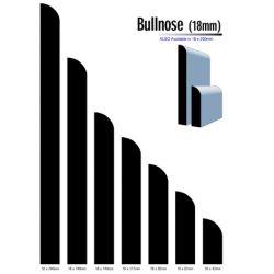 Primed MDF Bullnose 240 X 18 White