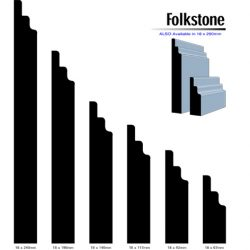 Primed MDF Folkstone 240 X 18 White