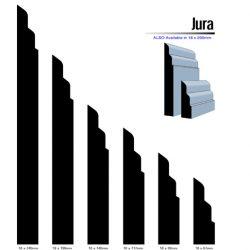 Primed MDF Jura 240 X 18 White