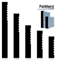 Primed MDF Parkhurst 240 X 18 White