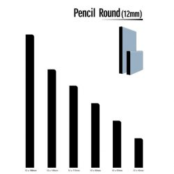 Primed MDF Pencil Round 42 X 12 White