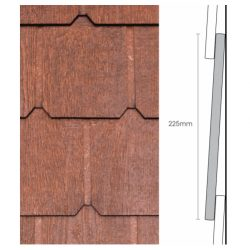 Weathertex Classic Wall Shingles Plus 225 x 9.5 x 1195mm Natural