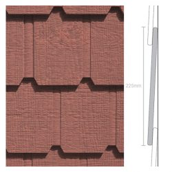 Weathertex Classic Wall Shingles 225 x 9.5 x 1195mm