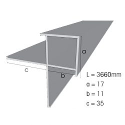 Weathertex Small External Aluminium Corner 3660mm