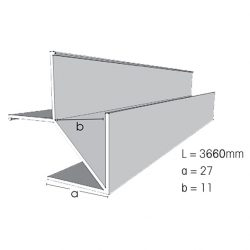 Weathertex Small External Aluminium Corner 3660mm Large Flange