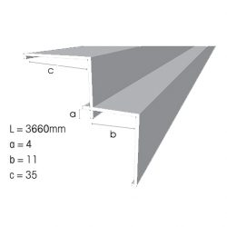 Weathertex Small Internal Aluminium Corner 3660mm