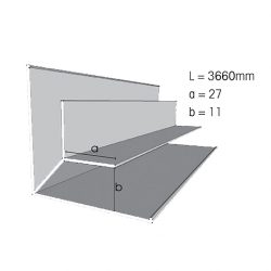 Weathertex Small Internal Aluminium Corner 3660mm Large Flange