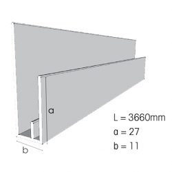 Weathertex Small Window Surround/ End Stop 3660mm