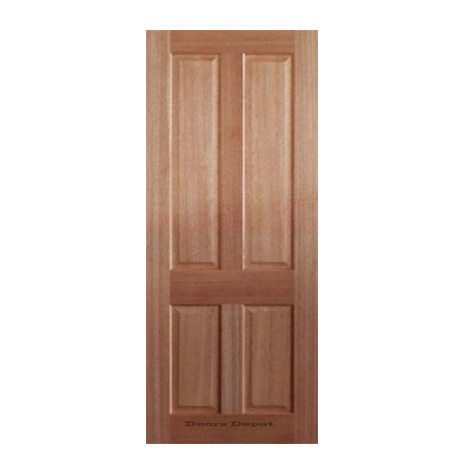 4 Panel Meranti Door 2040 x 720 x 35 SP - 4COL