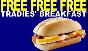free tradie breakfast blacktown