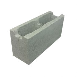 Besser Block Channel 390 x 190 x 140 Masonry Concrete Grey Hollow Block