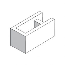 Besser Block Corner & End 390 x 190 x 190 Masonry Concrete Grey Block