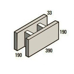 Besser Block Stretcher 390 x 190 x 190 Masonry Concrete Block