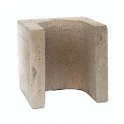 Besser Block Half End 190 x 190 x 190 Masonry Concrete Grey Block