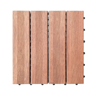 Hardwood Merbau Decking Tiles 300 x 300 x 25mm Pack of 8