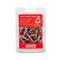 Pryda 12G x 35mm Timber Connector Screws 50pk