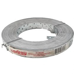 Hoop Iron 25mm x 0.8mm x 30m Punched Strapping Carlray