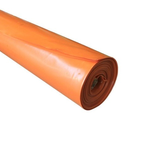 Builders Film 4m x 50m x 200um High Impact Orange Polythene Plastic