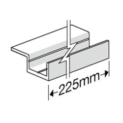 James Hardie 306011 Single Wing Base Jointer 225mm With Screw HardieDeck PK of 35
