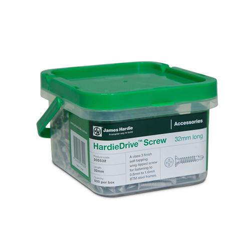 James Hardie 305984 HardieDrive Square Drive Screw 41mm Box Of 1000