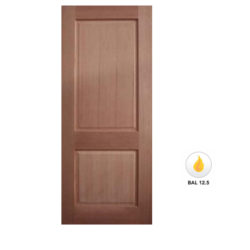Meranti Solid 2 Panel Door Maple Veneer SP-2P Various Sizes