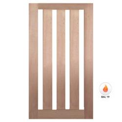Meranti Door Solid Vertical Glass GD-4V Various Sizes
