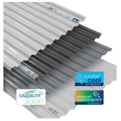 Laserlite 3000 Polycarbonate Corrugated Roofing Sheets