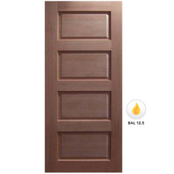Meranti Solid 4 Panel Door Maple Veneer SP-4P Various Sizes