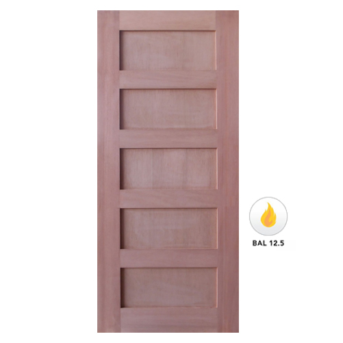 Meranti Solid 5 Flat Panel Shaker Door Various Sizes SP-SK5
