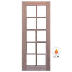 Meranti Door Solid 10 Light Door GD-10L Various Sizes