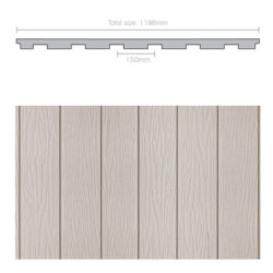 Weathertex 3660 x 1196 x 9.5mm WeatherGroove Ruff Sawn 150mm Groove