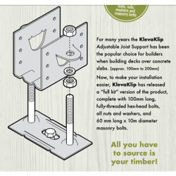 Kleva Klip Adjustable Joist Support Kit Box of 16