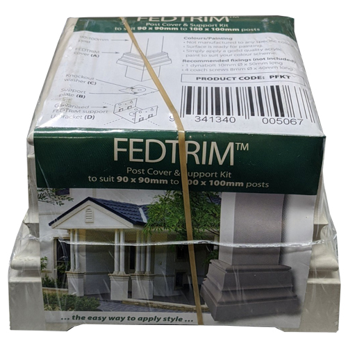 Fedtrim 90-100mm Post Cover and Support Kit
