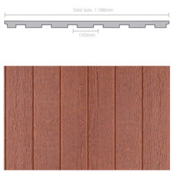 Weathertex 3660 x 1196 x 9.5mm Natural 150mm Groove