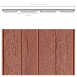 Weathertex 3660 x 1196 x 9.5mm Natural 300mm Groove