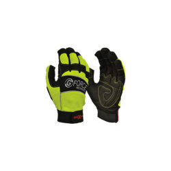 Safety Gloves G-Force HiVis Mechanics Gloves