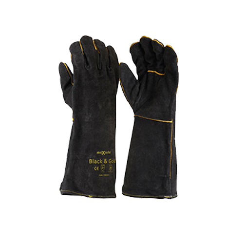 Safety Gloves Black & Gold Welders Gloves GWB160