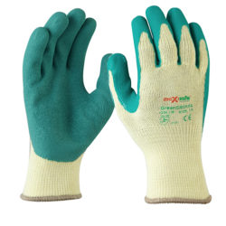 Safety Gloves Green Grippa Glove Maxisafe Latex