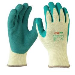Safety Gloves Green Grippa Glove Maxisafe Latex