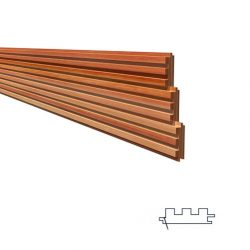 Cedar Cladding 81 x 26mm Castelation Cladding Western Red Cedar Lining
