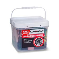 Packers 75mm Mixed Shims Container 280PC Aerobolt ABPMIX01