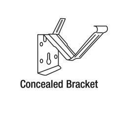 Concealed Bracket Zinc for Hi Front Gutter 115