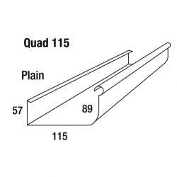 Quad Gutter 115 Hi Front Colorbond
