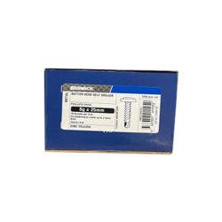 Button Head Screw 8g x 25mm Zinc Plated Metal Screws Box of 1000