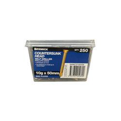 Countersunk Screw 10g x 50mm Zinc Plated Metal Screws Box of 250